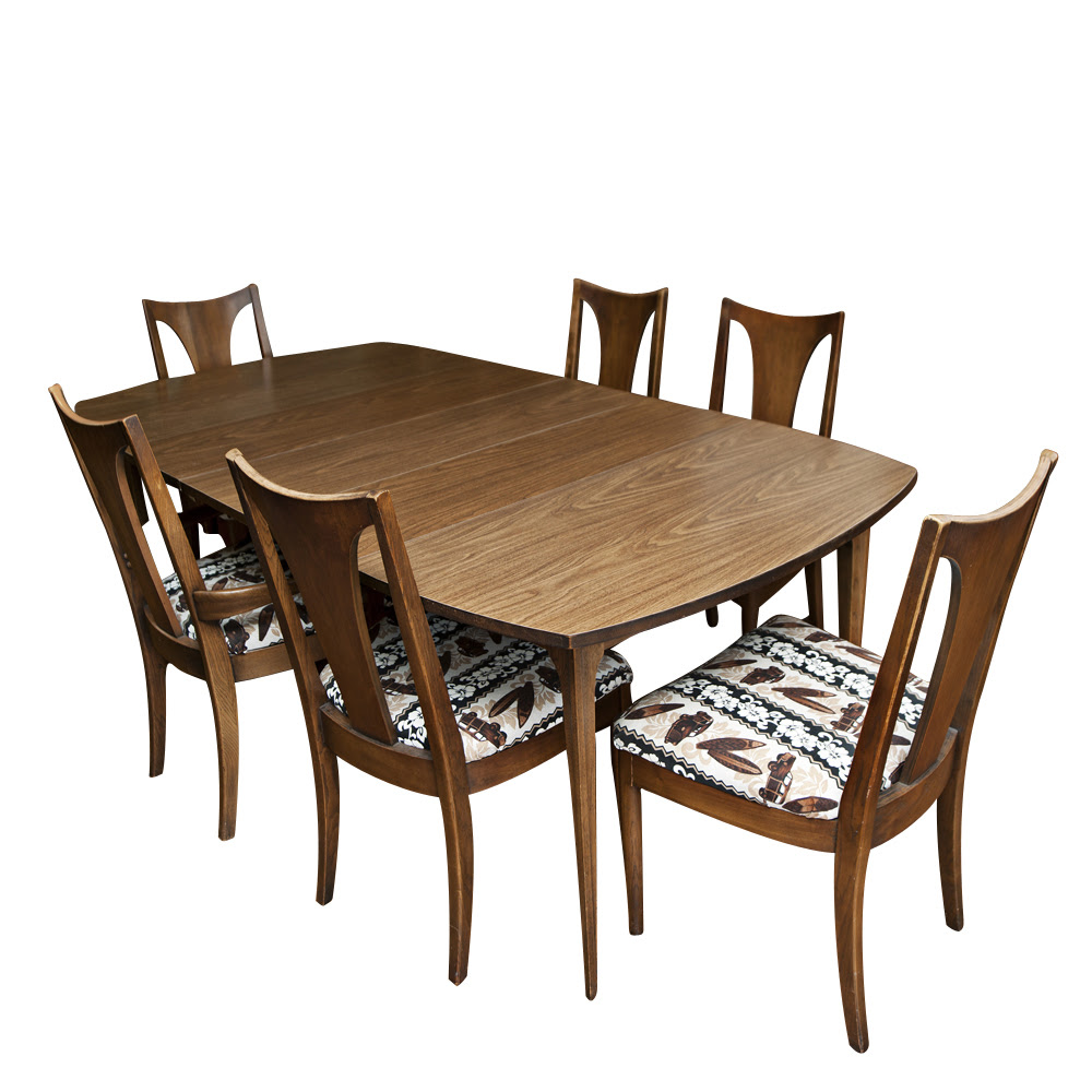Vintage Mid Century Dining Table and Chairs  eBay