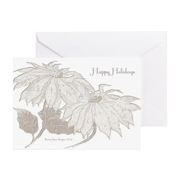 Happy Holidays Poinsettia Greeting Cards (10 pack)