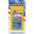 Write Dudes USA Gold Premium Cedar Pre-Sharpened Pencils,  No. 2 - 12 count