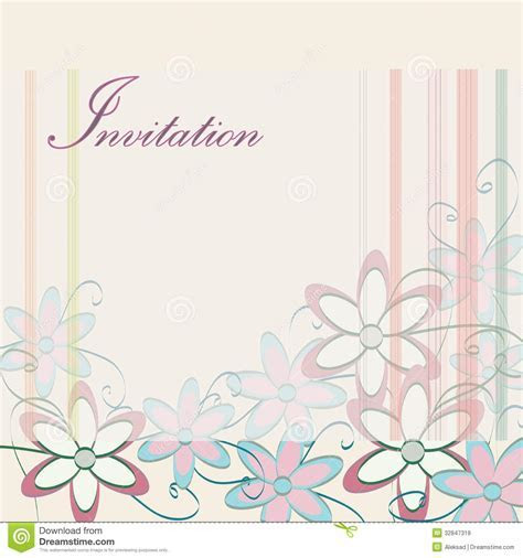 Wedding Invitation Template. Party Card Design With