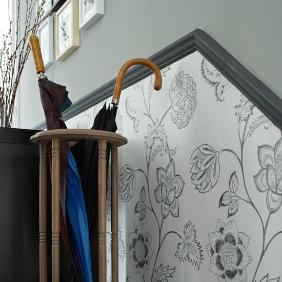 Wallpaper below the dado rail | 10 wallpaper ideas for hallways ...