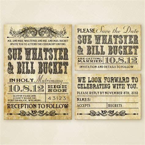 Western Wedding Invitation Set PRINTABLE   Western Wedding