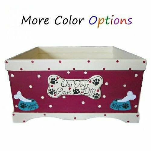 Personalized Dog Toy Box - Square