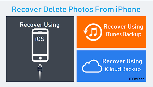 How to Recover Deleted or Lost Photos from iPhone