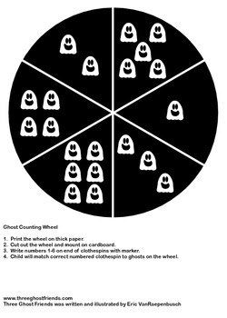 Ghost Counting Wheel (Number 1-6)