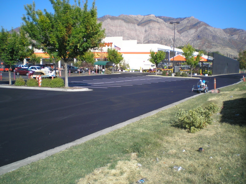 Sunland Asphalt project for Home Depot in Ogden, UT