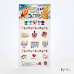 Rite Lite TYN-8 Chanukah Temporary Tattoos 15 Designs Carded