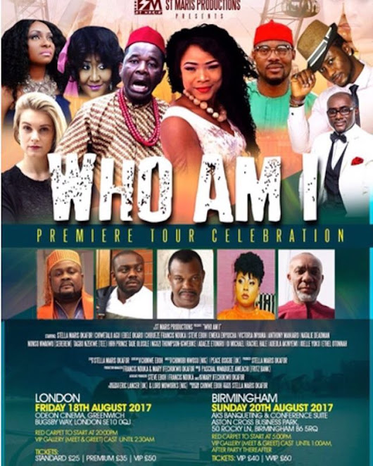 The London & Birmingham Premieres of Stella Maris Okafor's 'WHO AM I' the Movie