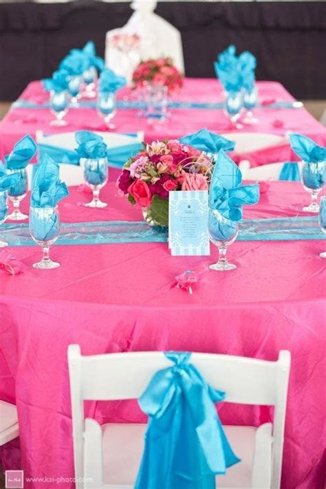 30 best images about Malibu Blue & Hot Pink Wedding on