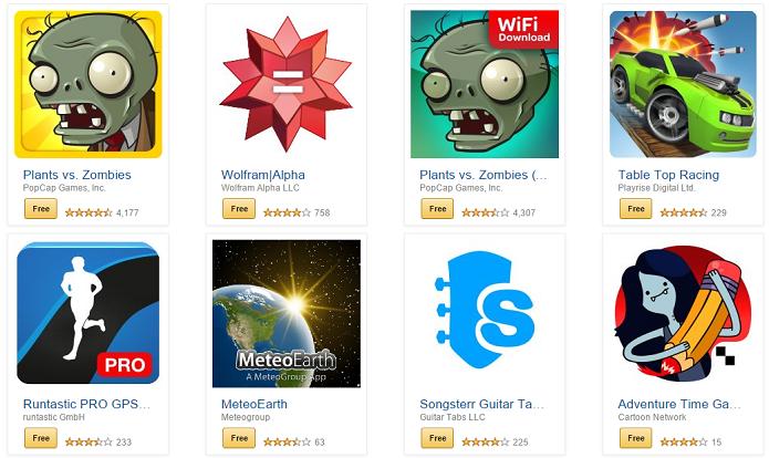 Apps estão sem custo na Amazon (Foto: Reprodução/Thiago Barros)