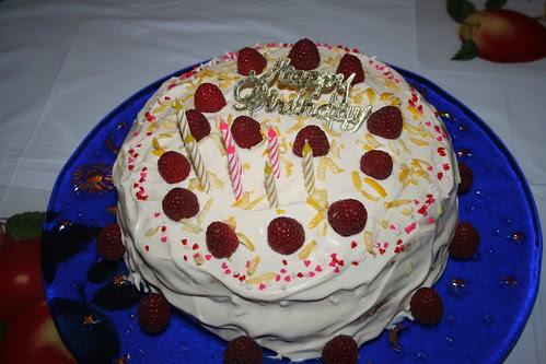 Anna's belated lemon birthday cake