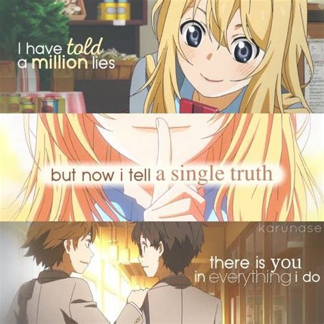 Your Lie In April Quotes Anime