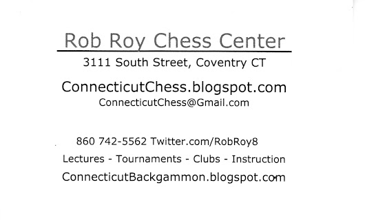 Connecticut Chess Magazine, Backgammon, Rob Roy