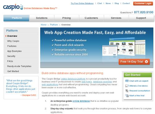 Caspio_com_online-database