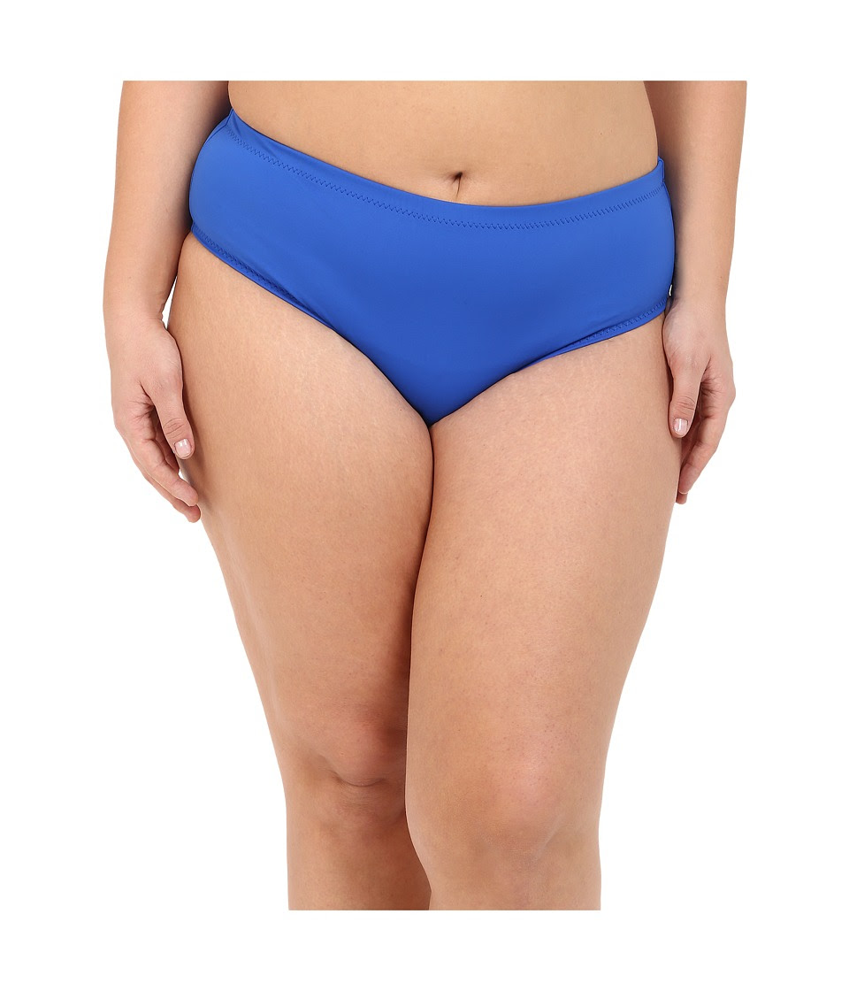 BECCA by Rebecca Virtue - Plus Size Becca ETC Caravan Solid Full Pants (Electric Blue) Women's Swimwear