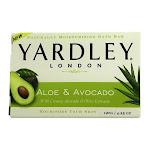 Yardley London Moisturizing Bar Soap, Fresh Aloe With Avocado - 4.25 Oz