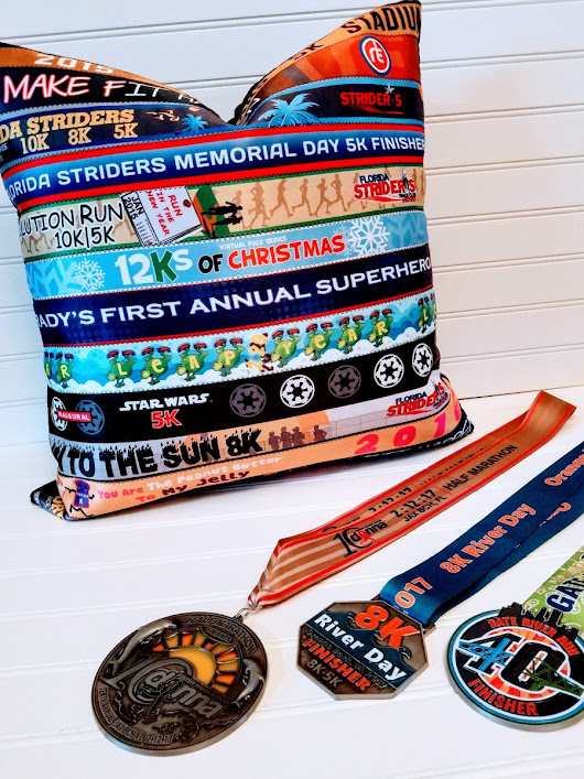 Marathon Ribbon Pillow Cover, Running Race Ribbon Pillow Cover, Custom Ribbon Pillow Cover, Award Ribbon Pillow Cover, Keepsake Pillow Cover, Equestrian Ribbon Pillow Cover