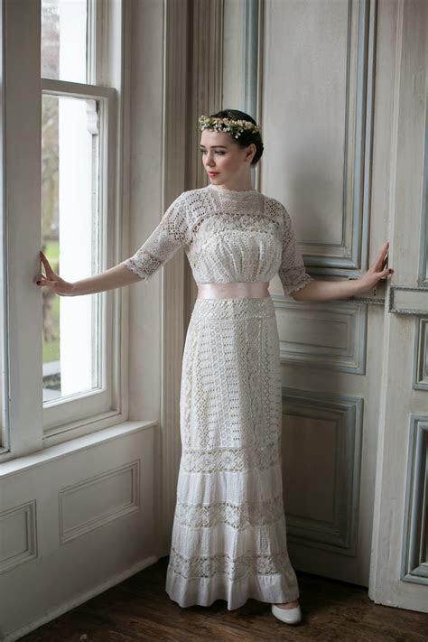 Edwardian lace wedding dresses: two rare original beauties