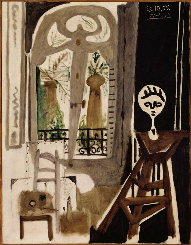 """Pablo Picasso (1881-1973, Spanish) 1955 oil painting """"L'Atelier (The Workshop)"""" will be featured in the exhibition """"Matisse in His Time: Masterworks of Modernism from the Centre Pompidou, Paris,"""" opening in 2016 at the Oklahoma City Museum of Art. Oklahoma City will be the exclusive North American venue to host the exhibit, which will include 100 works of art, including nearly 50 paintings, sculptures and works on paper by Henri Matisse, as well as masterworks by Picasso, Juan Gris, Georges Braque, André Derain, Fernand Léger and Amadeo Modigliani. Image provided by Centre Pompidou, Paris"""