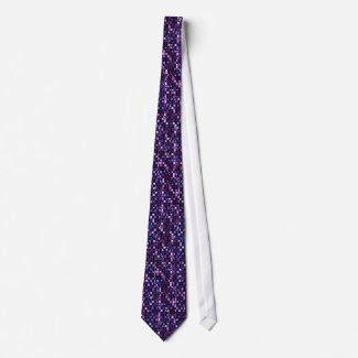 Multicolored Purples Sequin Effect Neckware
