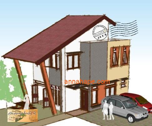 Tip 70 annahape fasad rumah tropis mungil  ANNAHAPE STUDIO Desain