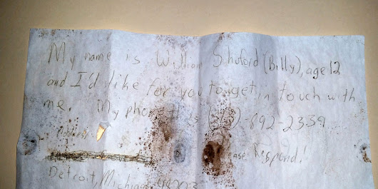 Message in a bottle washes up in Canada, nearly 30 years after being tossed into Detroit River