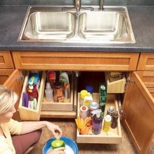 Como construir Kitchen Sink armazenamento Bandejas