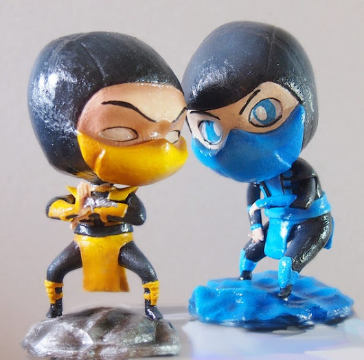 Mortal Kombat Sub Zero and Scorpion  Custom Figures