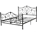 Christopher Knight Home Metal Bed Charcoal, Size: King