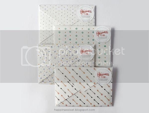 Happiness is... handmade stationery products: envelope notebooks!
