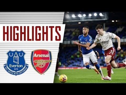 اهداف مباراة ايفرتون 2-1 إرسنال اليوم في الدوري الانجليزي
