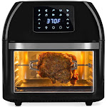 Best Choice Products 16.9qt 1800W 10-in-1 Family Size Air Fryer Countertop Oven Rotisserie Toaster Dehydrator - Black