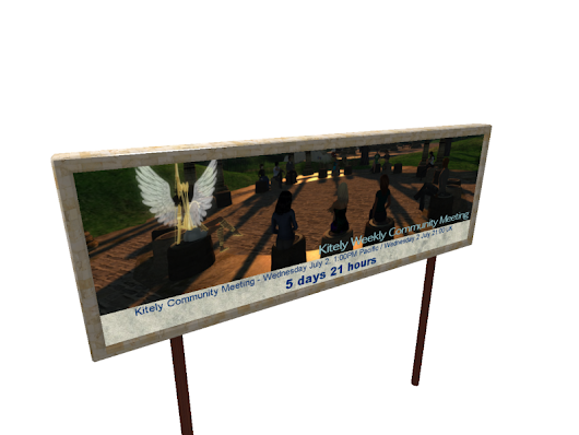 In-World Event Publishing and Display Board [Kitely Market]