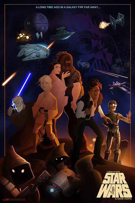 I Grew Up With Starwars by Nelson Dedos  Garcia