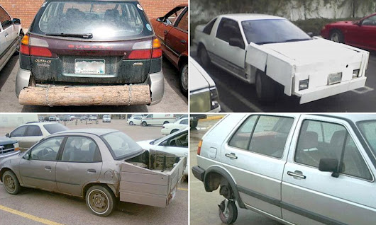 The fender offenders: Hilarious DIY car repair bodge jobs carried out by amateur mechanics to keep their vehicles going