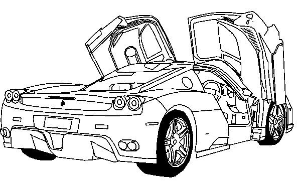 Ferrari Car Coloring Pages at GetColorings.com | Free ...