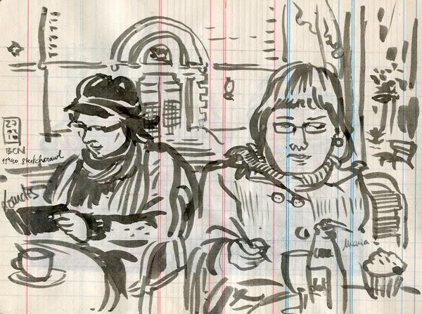 26th world wide sketchcrawl - barcelona