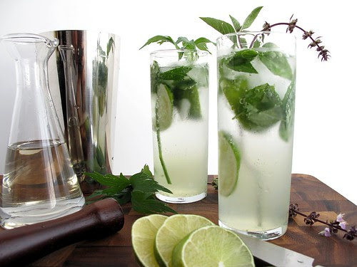 simple syrup, Collins, and Mojito