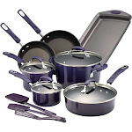 Rachael Ray Purple Gradient 14 Piece Enamel Cookware Set - 14558