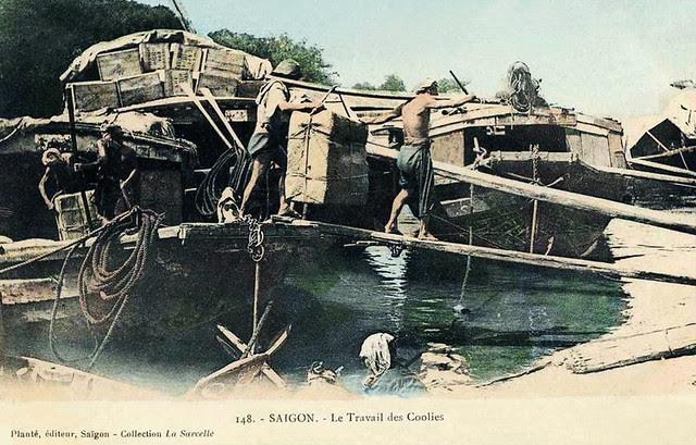 SAIGON - LE TRAVAIL DES COOLIES