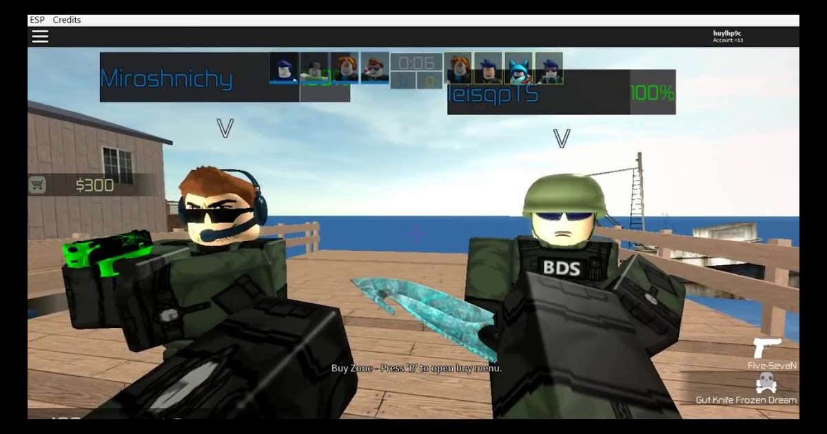 Counter Blox Roblox Offensive Knife Hack | Roblox Free Kid Games