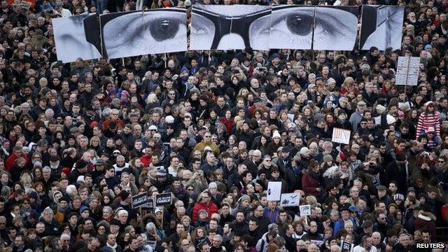 Paris demonstration after the Charlie Hebdo massacre