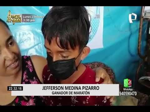 Perú: NIÑO DE 13 AÑOS CORRIÓ 6 KILÓMETROS DESCALZO Y GANÓ EL MARATÓN EN TUMBES