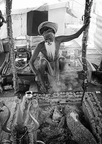 One Hand Raised Naga Baba by firoze shakir photographerno1