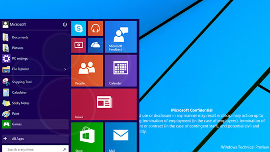 Windows 9's new Start menu demonstrated on video