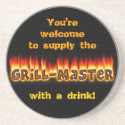 Grillmaster (customizable) coaster