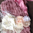 Baby Girl's Dusty Rose Petti Romper w/ by My2DaughtersBowtique