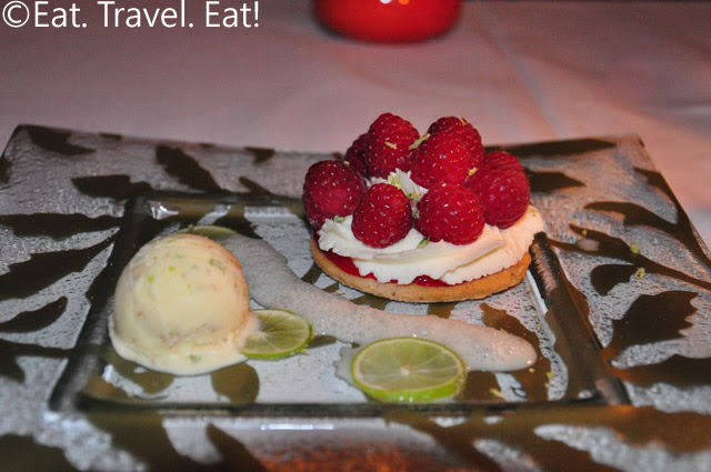 Raspberry and Lime Dessert