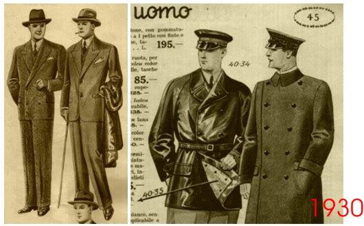 huge discount 89f7d ba873 Cronache dell'Età Post-umana: Moda maschile negli anni Trenta