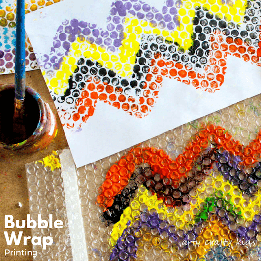 Bubble Wrap Printing - Arty Crafty Kids